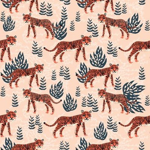 safari tiger // blush coral tropical blush kids