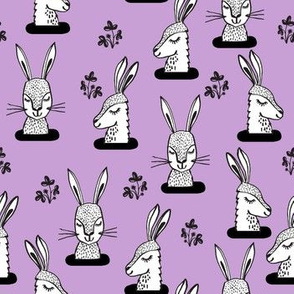 rabbit // rabbits sweet bunny rabbit girls pastel purple lavender lilac purple spring