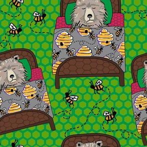 Lead in kelly hex spots + bees