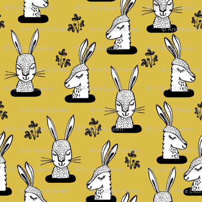 rabbit // rabbits bunny sweet rabbits yellow mustard spring girls