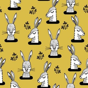 rabbit // rabbits bunny sweet rabbits yellow mustard spring girls