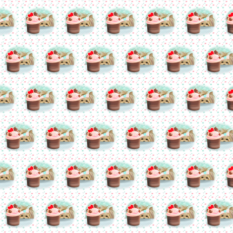 Forbiden Cupcake small pattern fabric by catialee on Spoonflower - custom fabric