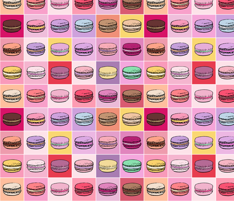 Mad About Macarons Small fabric by mariafaithgarcia on Spoonflower - custom fabric