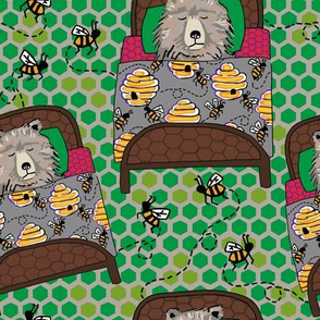 Lead in kelly hex + bees