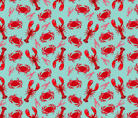 crab and lobsters    mint crabs ocean nautical preppy summer lilly summer crawfish  crayfish fishing 513854000
