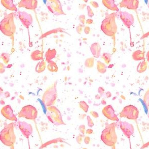 Splatter Butterfly Water Color Painting Pattern