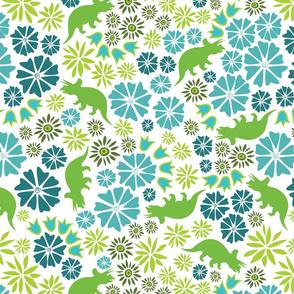 Dinosaur Flower white background