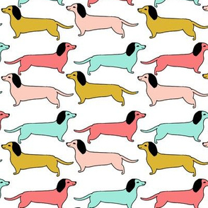 dachshunds // dogs dog pet puppy dachshund fabric dog sweet dog design girls