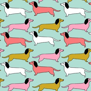 dachshunds // dogs dog puppy love sweet wiener dogs weiner dogs puppy fabric