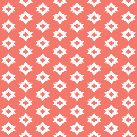 aztec // coral pink blush kids southwest tribal nursery baby fabric by andrea_lauren on Spoonflower - custom fabric