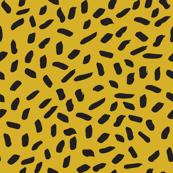sprinkles // mustard and black sprinkles cheetah animal edgy cool kids