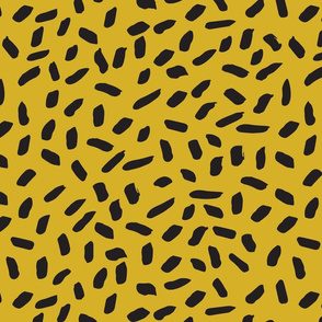 sprinkles // mustard and black sprinkles cheetah animal edgy cool kids