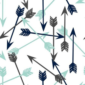 arrows // navy mint light grey boys kids nursery sweet nursery baby