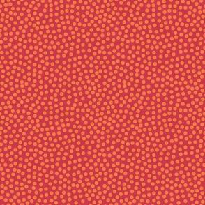 Random orange dots on red