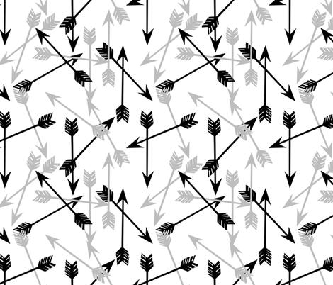 arrows // arrow black and grey arrows  fabric by andrea_lauren on Spoonflower - custom fabric