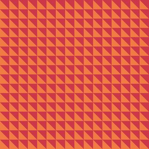 Spring triangles grid - red
