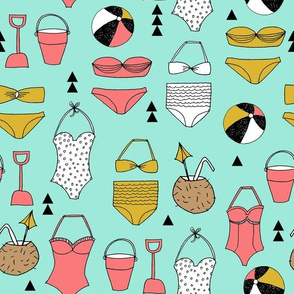 beach // summer swim suit bathing suit swimming bikini cute girls beach ball