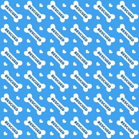 Rescued Bones Blue fabric by brainsarepretty on Spoonflower - custom fabric