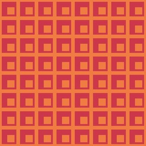 Spring grid & squares - large - red