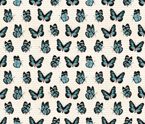 Butterfly Flutter Small fabric by mariafaithgarcia on Spoonflower - custom fabric