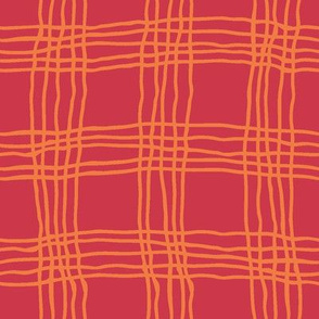 Spring plaid - large - red