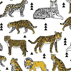 lions and tigers // cats safari animals cute geo geometric tigers