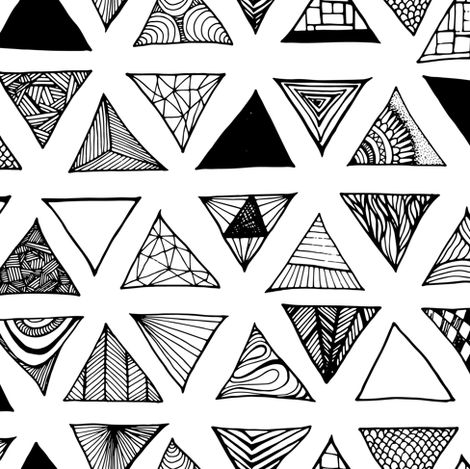 Triangle Doodles 13 Designs By Pennyroyal