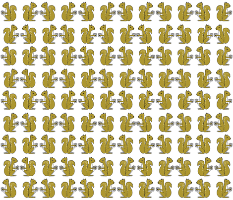 squirrel fabric // squirrels golden mustard brown gold kids woodland forest acorns fall autumn fabric by andrea_lauren on Spoonflower - custom fabric