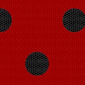"Ladybug Fabric 2.25"" Spots"