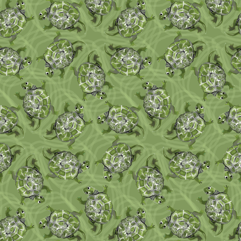 Swimming Turtles fabric by eclectic_house on Spoonflower - custom fabric