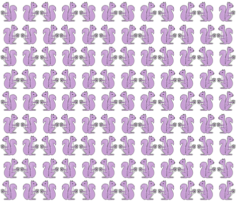 squirrels fabric // squirrels pastel purple lilac  fabric by andrea_lauren on Spoonflower - custom fabric