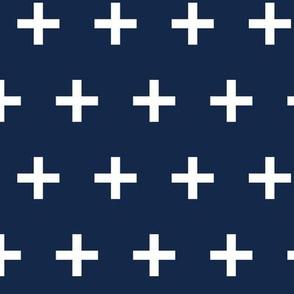 swiss cross // navy blue swiss cross plus plus sign swiss crosses