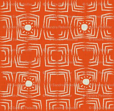 African sunshine in orange