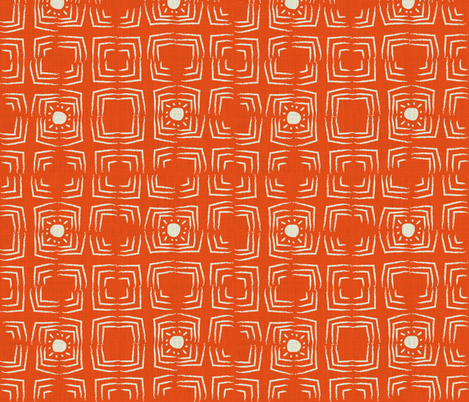 African sunshine in orange fabric by sansan on Spoonflower - custom fabric