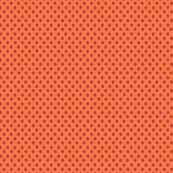 Spring fuzzy dots - small - red