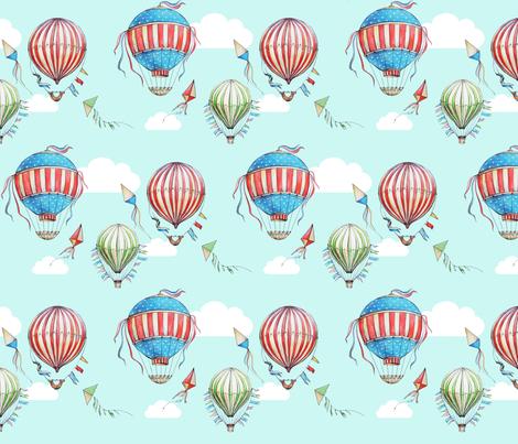 Retro air balloons fabric by dasha_aleks on Spoonflower - custom fabric