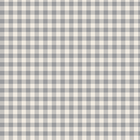 cream and grey gingham fabric by weavingmajor on Spoonflower - custom fabric