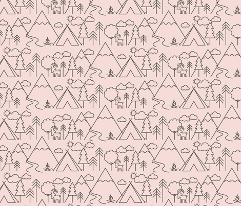 Camp Capricorn Line Candy fabric by phirefly_print on Spoonflower - custom fabric