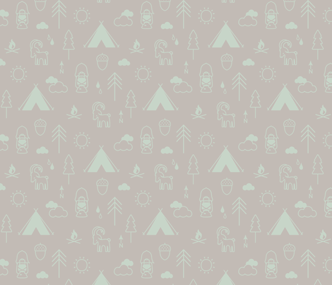 Camp Capricorn Conversation Spearmint fabric by phirefly_print on Spoonflower - custom fabric