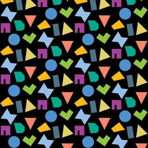 Falling confetti bright fabric by nicamo on Spoonflower - custom fabric