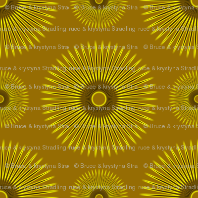 Yellow Flowers on Gold