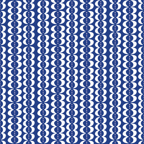 Seed Pods - blue fabric by solvejg on Spoonflower - custom fabric