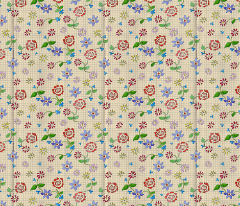 Flower Variety Squared fabric by linsart on Spoonflower - custom fabric