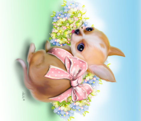 Chihuahua Baby Panel fabric by catialee on Spoonflower - custom fabric