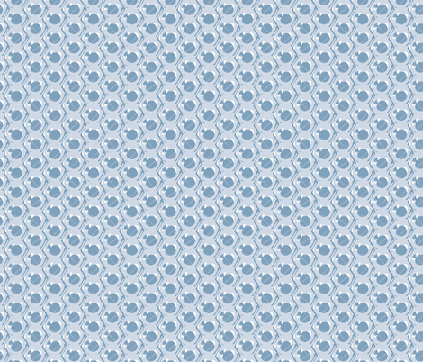 16-14A Nuts & Bolts Slate Blue    Retro Male Masculine Construction tool box  _Miss Chiff Designs fabric by misschiffdesigns on Spoonflower - custom fabric