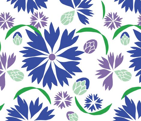 cornflowers fabric by nina@ninataradesign_com on Spoonflower - custom fabric