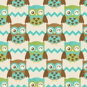 Winking Owl Love