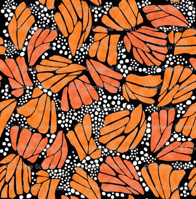 Orange Monarch Butterfly
