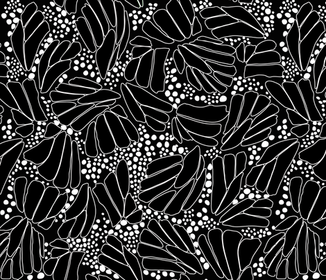 Black White Butterfly Outline fabric by thestylesafari on Spoonflower - custom fabric