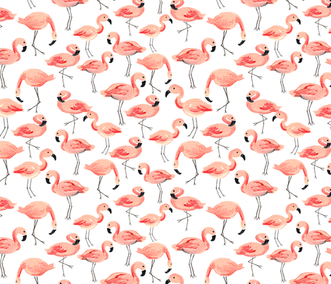 Flamingo Party (Large) fabric by shelbyallison on Spoonflower - custom fabric